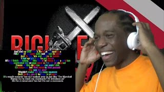 Eminem - Right For Me - [Lyric Video & Colored Rhyme Scheme] Reaction!!!