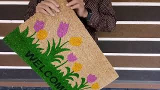 Coir mat Printed with antislip backing