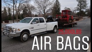 RAM 3500 towing 25,000lbs with PacBrake air bags