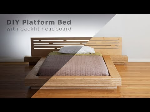 DIY Modern Plywood Platform Bed Part 1 : Frame & Nightstand Build – Woodworking