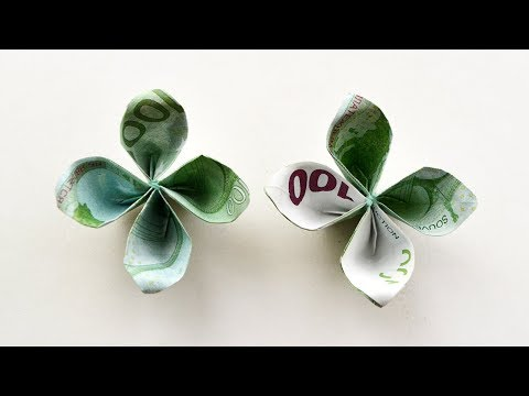 How To Make A Money FLOWER Out Of EURO Bill | Easy ORIGAMI Paper Tutorial DIY