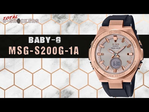 Ladies Casio BABY-G G-MS Rose Gold Tone Watch | MSG-S200G-1A Top 10 Review