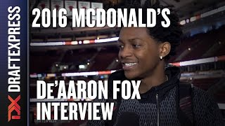 De'Aaron Fox - 2016 McDonald's All American Interview