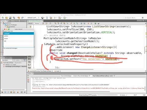 58-  JavaFX||  use ListView-  مستعرض بيانات