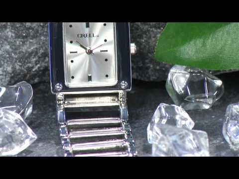 CRELL Elegante Armbanduhr für Damen, rund