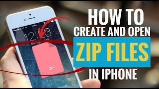 How to Create and Open Zip Files in iPhone