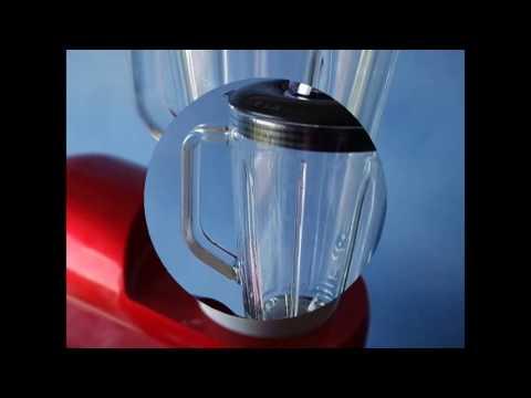 Klarstein Lucia Rossa Robot da cucina multifunzionale (impastatrice, accessori per tritare, 1200 Wat