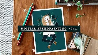 DIGITAL ILLUSTRATION Q&A + SPEEDDRAWING •StudioSilvana
