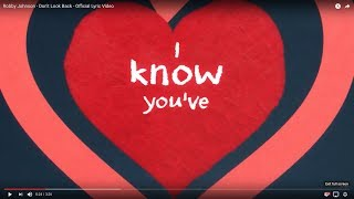"Robby Johnson - ""Don't Look Back"" (Lyric Video)"
