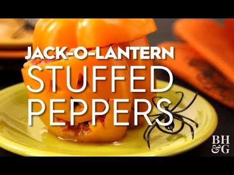Jack-O-Lantern Stuffed Peppers | Fun With Food | Better Homes & Gardens