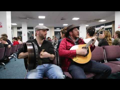 Irish Flight Is Delayed For 2 Hours, So These Talented Guys Decide To Play A Bit Of Music Session