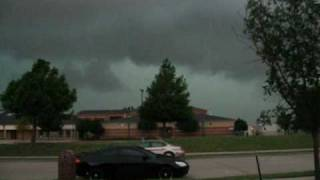 Severe Storm in Texas with Tornado Sirens