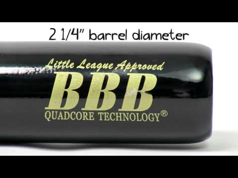 BamBooBat Bamboo Wood Youth Baseball Bat: HNBBY Natural/Black