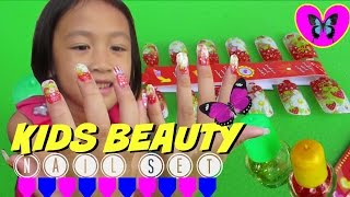 Kids Beauty Nail Set ♡  Fashion Nail Artist ♡  Nail Playset @LifiaTubeHD