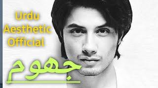 Jhoom - Urdu Lyrics | Urdu Aesthetic | Ali Zafar - YouTube
