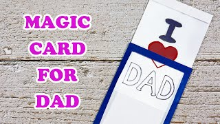 Diy Magic Card for Dad | Magic Father's Day Card Tutorial | Craft for Kids