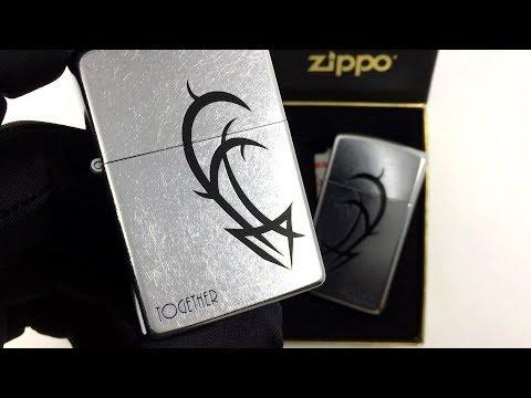 23207 Набор зажигалок Zippo Together Forever, Street Chrome
