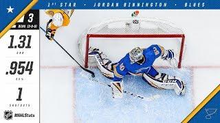 Jordan Binnington takes home the first star of the week