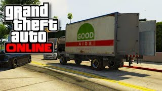 """GTA 5 Online - How To Open the back of the """"MULE"""" Moving Truck! - Perfect Getaway Vehicle! (GTA V)"""