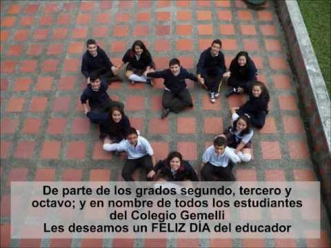 Homenaje a los profesores en su día - Colegio Gemelli Manizales. Abril de 2012