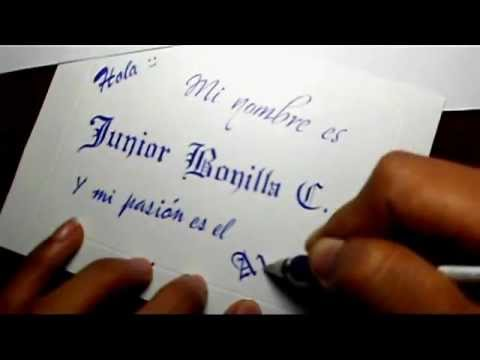 Speed drawing calligraphy (Caligrafía con bolígrafo)