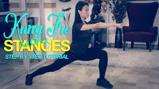 5 KUNG FU STANCES (Step by Step Tutorial)
