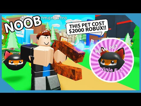 I Bought a ROBUX PET on my NOOB.. He Became A MILLIONAIRE! | Roblox Magnet Simulator