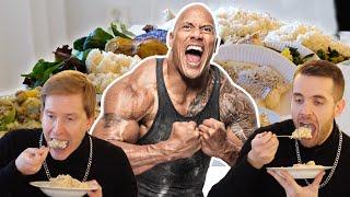 """Så mycket äter Dwayne """"The Rock"""" Johnsson varje dag!"""