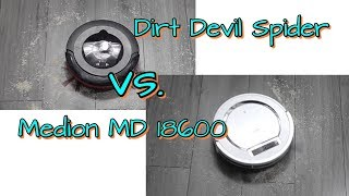 Saugroboter Vergleich Medion MD 18600 vs. Dirt Devil Spider M607