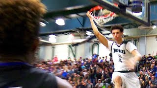 Lonzo Ball's FINAL GAME At Chino Hills Gym! STARE-DOWN After Dunk! PRIME Chino Hills VS Immanuel