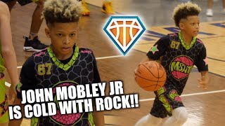 7th Grader John Mobley Jr is TOO COLD WITH THE ROCK!! | Elite 2024 Prospect