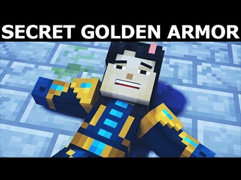 How To Find Secret Golden Armor   Minecraft Story Mode Season 2 Episode 4  Below The Bedrock