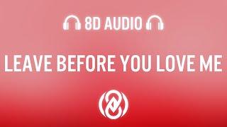 Marshmello x Jonas Brothers - Leave Before You Love Me (Lyrics)   8D Audio 🎧