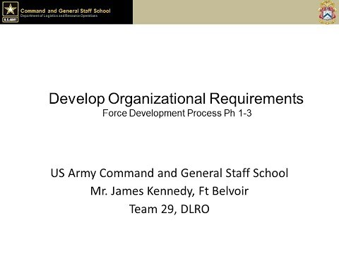 Develop Organizational Requirements