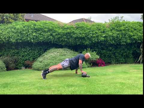 Kettlebell Offset Push Up