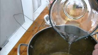 Making Deer Tallow Soap pt 3--Actually Making the Soap