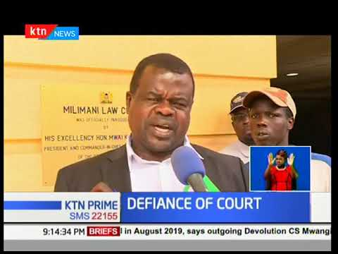 Okiya Omtata files case against cabinet secretaries Dr Fred Matiang'i and ICT's Joe Mucheru
