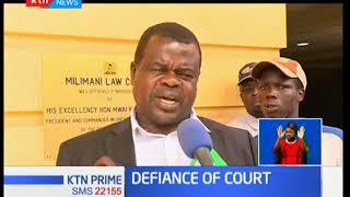 Okiya Omtata files case against cabinet secretaries Dr Fred Matiang'i and ICT's Joe Mucheru