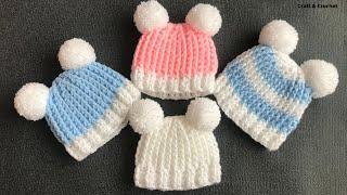 Easy & Fast Crochet Baby Hat/four Sizes Crochet Hats/crochet For Beginners