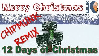 Minecraft Christmas Song - 12 Days of Christmas Parody Song - Chipmunk Remix
