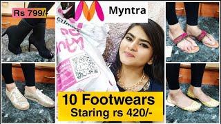 HUGE Myntra EORS Haul | FOOTWEAR HAUL | Anouk, Catwalk, Dressberry & More | Ria Das