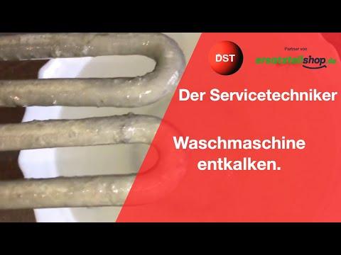 Waschmaschine entkalken Zitronensäure Praxistest mit verkalktem Heizstab
