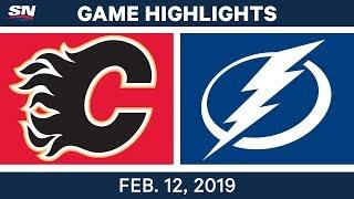 NHL Highlights   Flames vs. Lightning - Feb 12, 2019