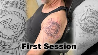 Tattoo Timelapse Firefighter Half Sleeve