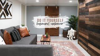 DIY Basement Makeover   Room Renovation