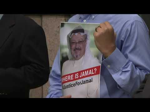 Friends and associates of Jamal Khashoggi held a news conference at the offices of the Washington Post Wednesday to seek answers to the disappearance of the journalist who vanished a week ago.(Oct. 10)