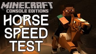 Minecraft: HOW FAST IS YOUR HORSE? A Way To Test Horse Speed!