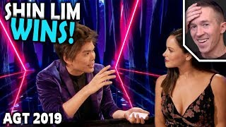 Magician REACTS to Shin Lim WINNING on AGT The Champions 2019