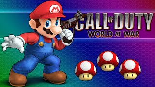 Call Of Duty WaW Zombies! - Mario Custom Map, Peach's Castle, Funny Moments!