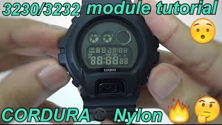 G-Shock DW-6900BBN Military Black unboxing and review | Casio G-Shock module 3230/3232 tutorial